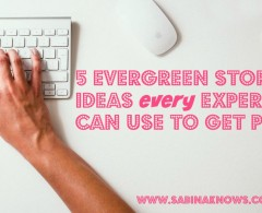 I Wrote You 5 Evergreen Story Angles That Will Wow the Press & Your Blog Readers