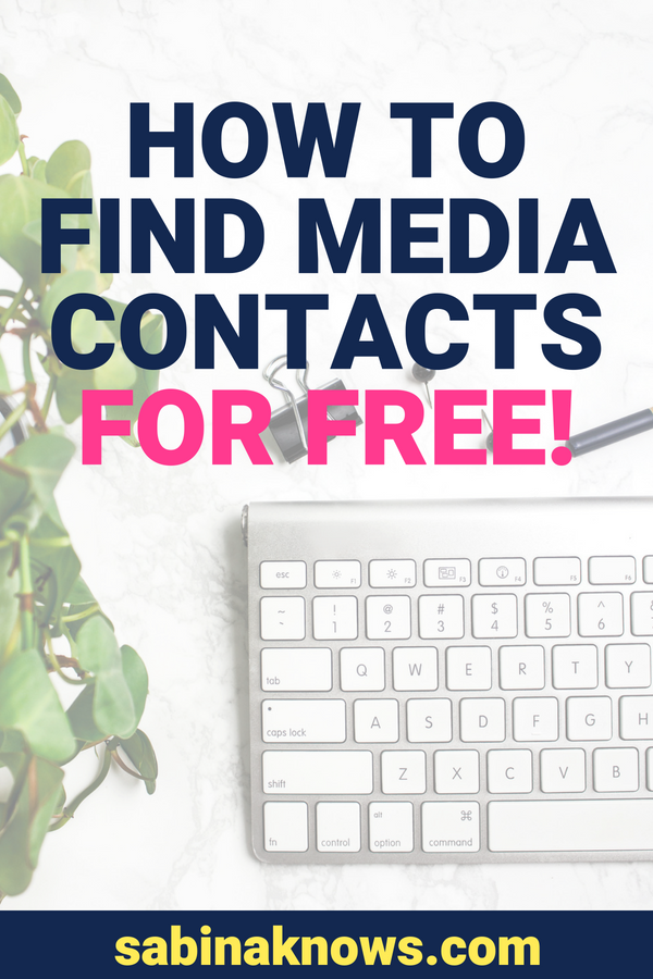 "One of the questions I get asked by small business owners most often is this one: ""How can I find media contacts?"" Here are 5 action steps to get media contacts for free!"