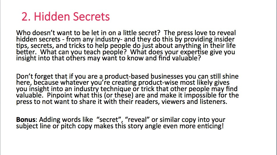 Free Publicity Boosting E Book with Story Angles the Press will Love