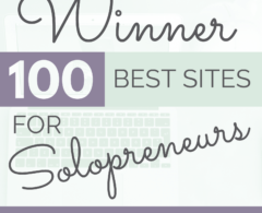 We Won: Top 100 Websites for Solopreneurs Features Our Resources for Small Biz Owners!