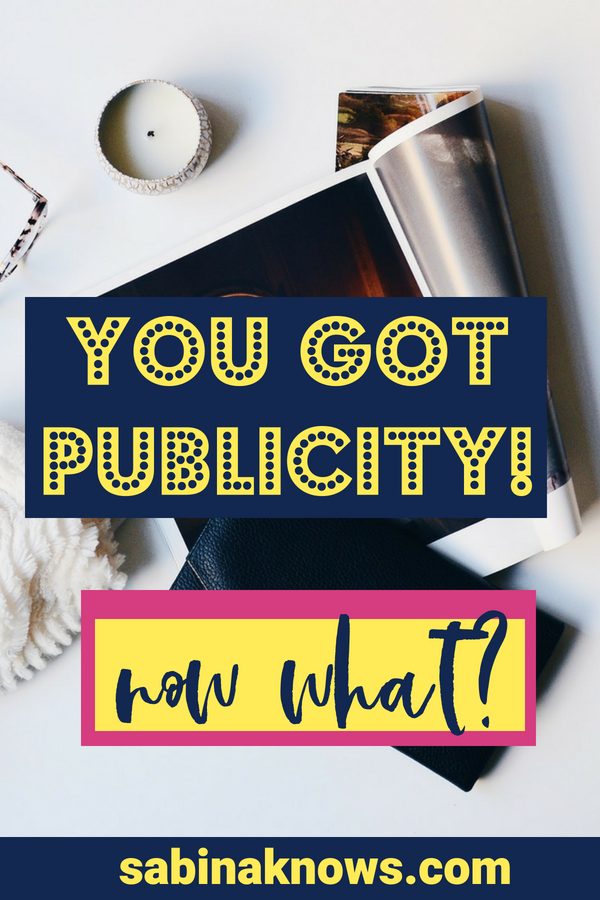 The moment you get publicity, you have another opportunity: one that allows you to leverage that press into even more buzz, visibility and media relationships! PR | press | public relations | media | media relations | how to get PR