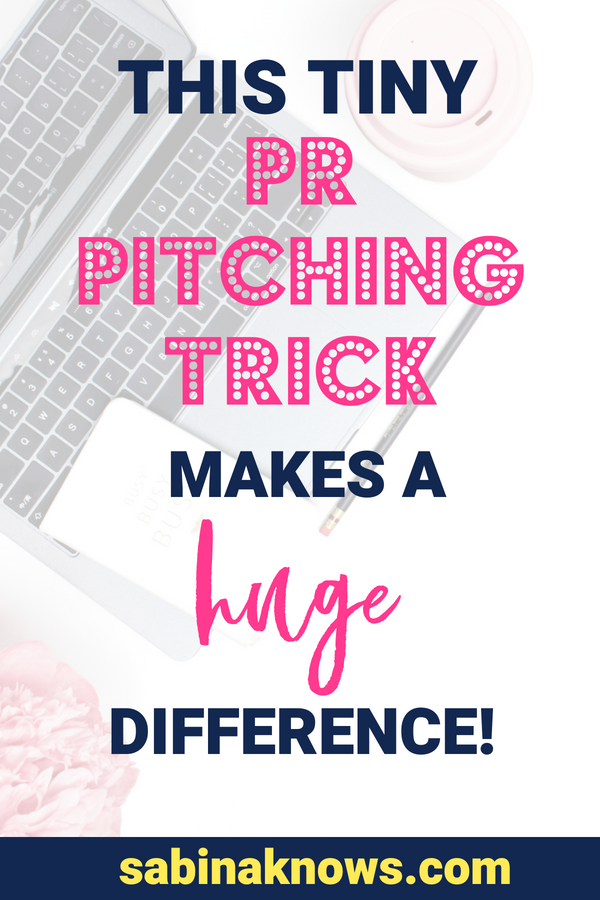 You spend tons of time on a PR pitch, but you probably haven't thought of this little PR tip! Here's the trick that will increase your email response rate. PR | publicity | pitching | pr pitching | email pitch