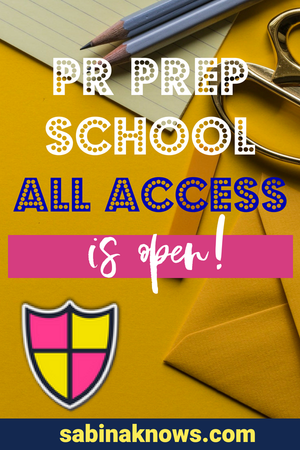 PR Prep School is the PR course you've been looking for. It's a no-fluff way to learn to DIY your PR tactics for your business! PR | press for success | pr prep school | PR course | DIY PR | PR tactics | learn PR