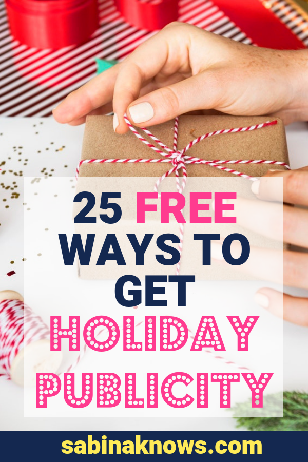 If you're a small biz owner you probably want to get as much buzz, sales, holiday publicity, and visibility for your business as you can! #holidaypublicity #smallbizowner #businesstips #biztips